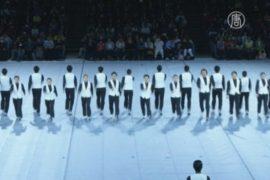 Синхронное хождение показали японские студенты