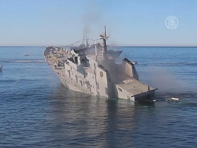 Корабль затопили ради дайверов