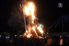 Гватемальцы изгоняют нечисть, сжигая дьявола