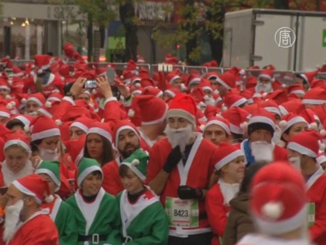 Мадрид: забег 10 тысяч Санта-Клаусов и 500 эльфов