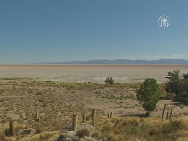 Озеро Поопо в Боливии высохло полностью