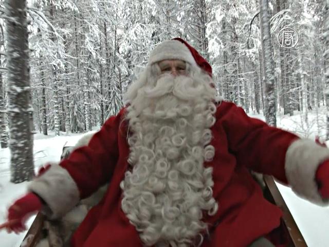 Санта-Клаус из Лапландии отправляется в путь