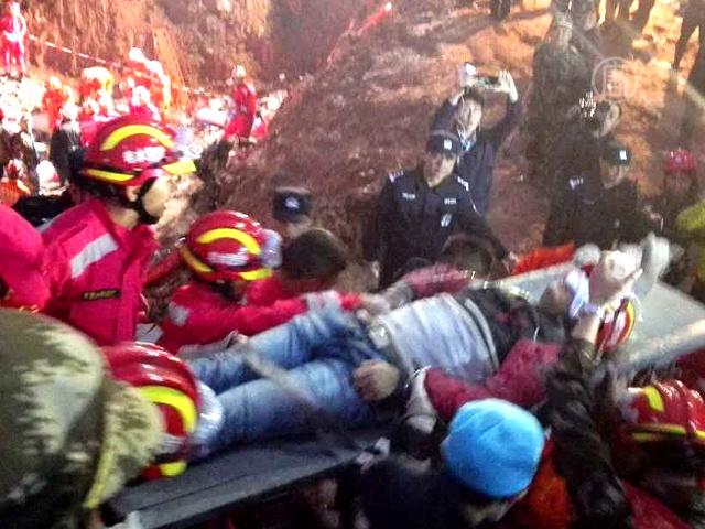 Оползень в КНР: мужчину нашли живым через 60 часов