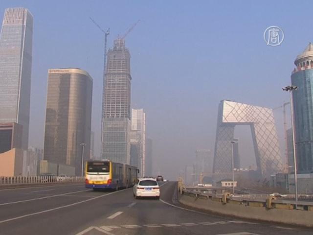 Смог уходит из Пекина, но остается в Шанхае