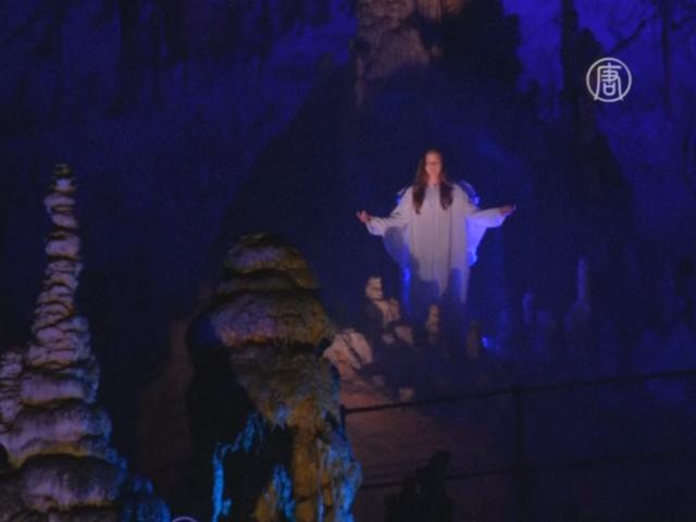 Живой вертеп показали в пещере Словении
