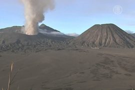 Вулкан Бромо в Индонезии отпугивает туристов