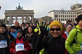 В Берлине новый год начали с традиционного забега