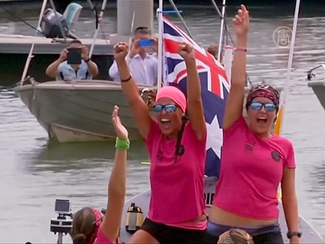 Четыре британки переплыли Тихий океан на вёслах