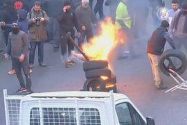 Во Франции таксисты протестовали против Uber