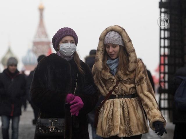 В России пытаются сдержать эпидемию свиного гриппа