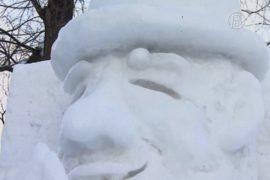 Снежные скульптуры снова представили в Саппоро