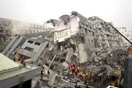 Землетрясение на Тайване: обрушилось 8 зданий