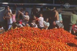Чилийцы устроили помидорные бои