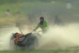 Тайские фермеры устроили гонки на плугах