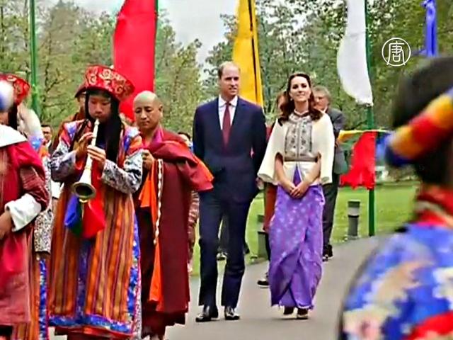 Уильяму и Кейт устроили королевский приём в Бутане