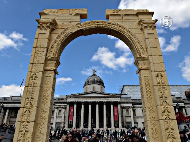 Копия пальмирской арки появилась в Лондоне