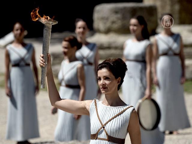 В Греции зажгли факел Олимпиады в Рио