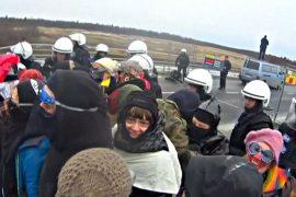 У строящейся АЭС Финляндии прошёл протест