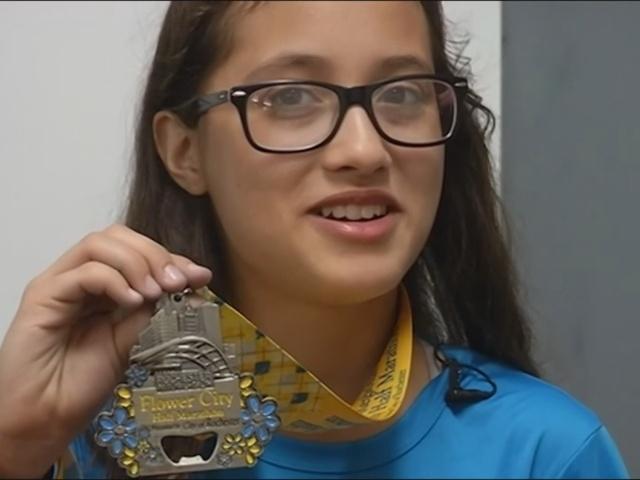 12-летняя девочка случайно пробежала полумарафон
