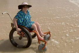 Австралия: пляж для людей в инвалидных креслах