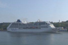 Куба: первый круизный лайнер из США за полвека