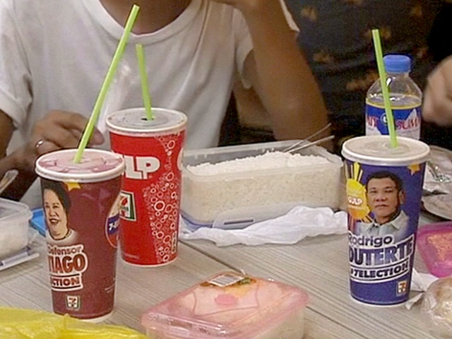 Филиппинцы голосуют напитками и сэндвичами