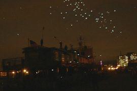 Световое шоу в Нью-Йорке: 2000 светящихся голубей