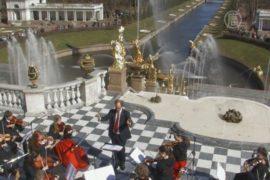 Струнный оркестр открывает сезон фонтанов