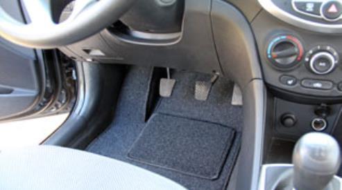 Ворсовые коврики для автомобиля