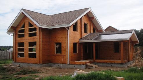 Как строят дома из профилированного бруса