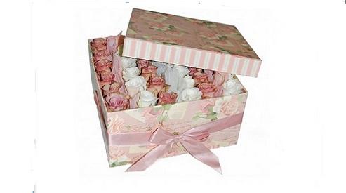 Новая тенденция флористов – цветы в коробке