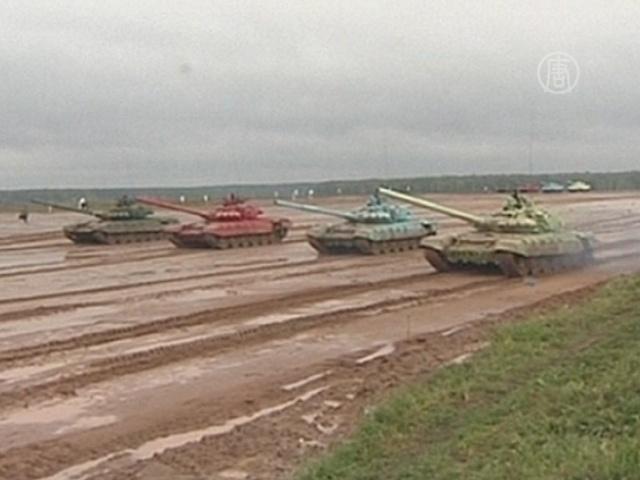 Танковый биатлон стартовал в Подмосковье