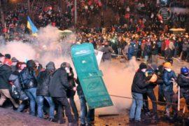 Столкновения в Киеве продолжались всю ночь