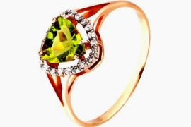 Кольцо с хризолитом – символ удачи и богатства