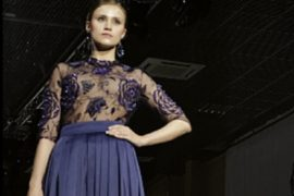 Вечерние платья весна-лето 2014 на Неделе моды в Москве